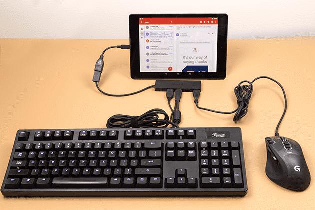 اتصال چند وسیله به موبایل،اتصال موس کیبورد و فلش بصورت همزمان به موبایل