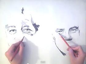 نقاشی با دو دست